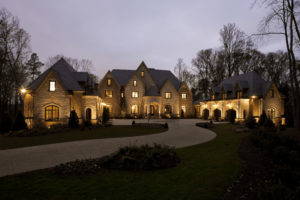 Beautiful house with great outdoor lighting!